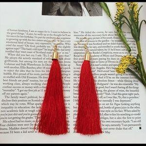 Jewelry - Red Tassel Earrings💃🏻